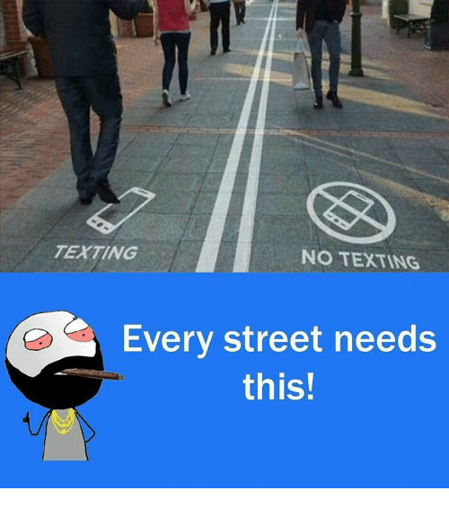No Text: TEXTING  NO TEXTING  Every street needs  this!