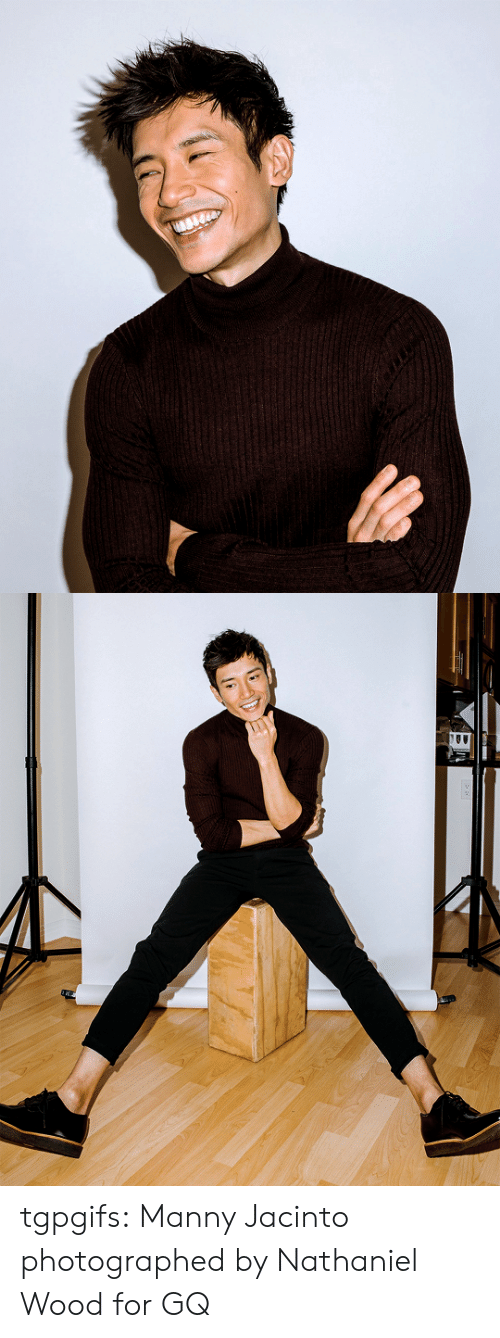Nathaniel: tgpgifs: Manny Jacinto photographed by Nathaniel Wood for GQ