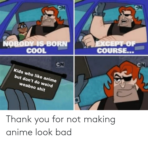 Thank You: Thank you for not making anime look bad