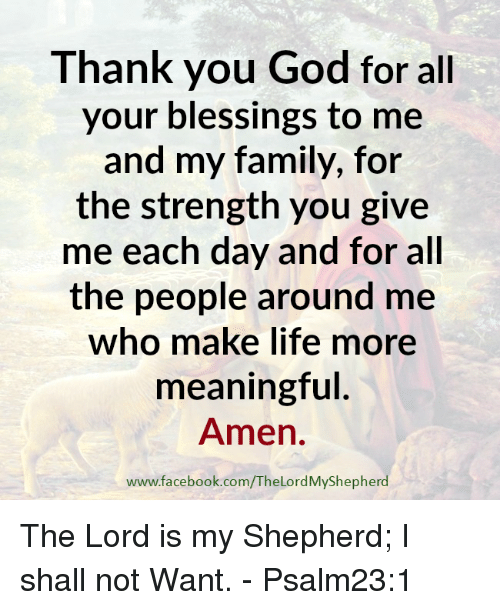 Thank God For My Blessings Quotes Daily Inspiration Quotes