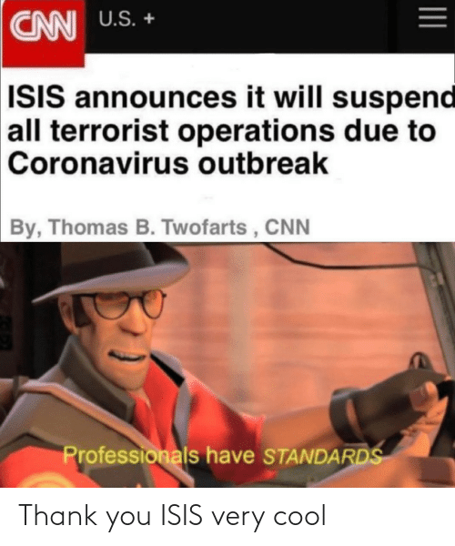 ISIS: Thank you ISIS very cool