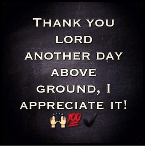 Funny Thank You Lord Meme : Thank you lord another day above ground i appreciate it