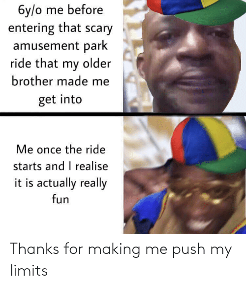 push: Thanks for making me push my limits