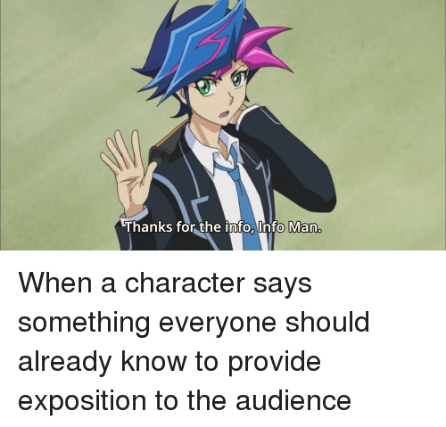 Anime Characters Everyone Knows : Best memes about exposition