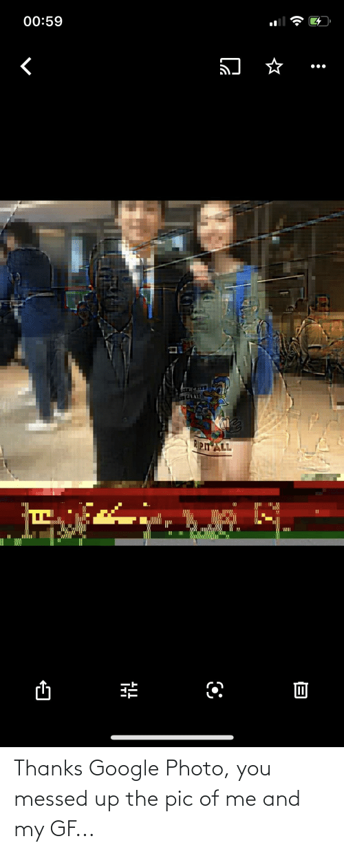 Messed: Thanks Google Photo, you messed up the pic of me and my GF...