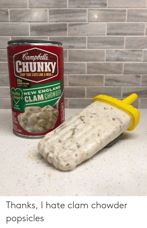 clam: Thanks, I hate clam chowder popsicles