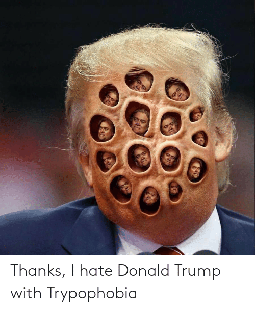 donald: Thanks, I hate Donald Trump with Trypophobia