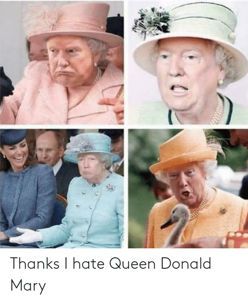 donald: Thanks I hate Queen Donald Mary