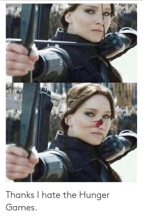 The Hunger Games: Thanks I hate the Hunger Games.