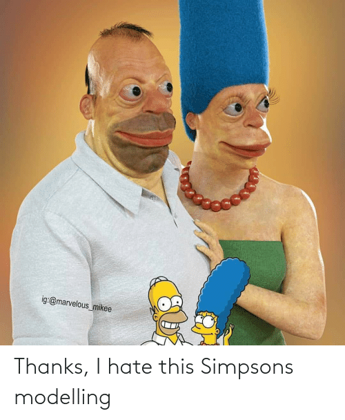 modelling: Thanks, I hate this Simpsons modelling