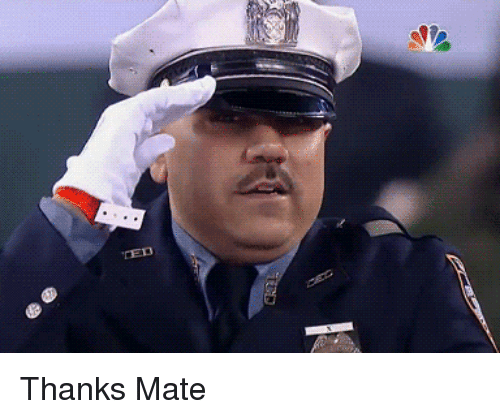 Thanks Mate | Thanks Meme on SIZZLE