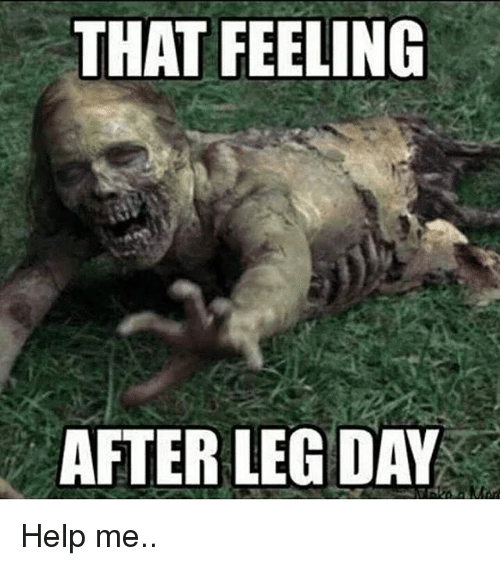 Gym: THAT FEELING  AFTER LEG DAY Help me..
