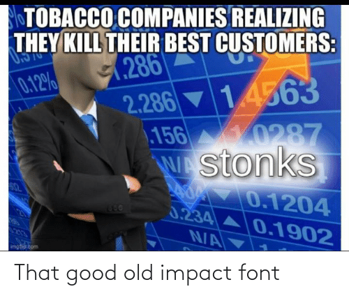 Impact Font: That good old impact font