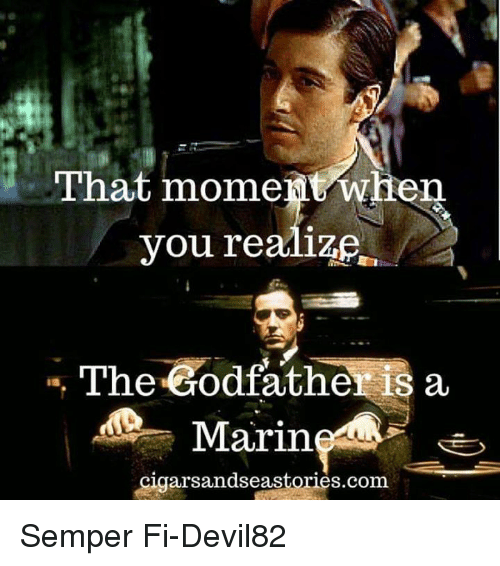godfathers: That moment when  The Godfather is a  Marin.  rsandseastories com Semper Fi-Devil82