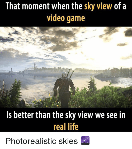 Video: That moment when the sky view of a  video game  Is better than the sky view we see in  real life Photorealistic skies 🌌