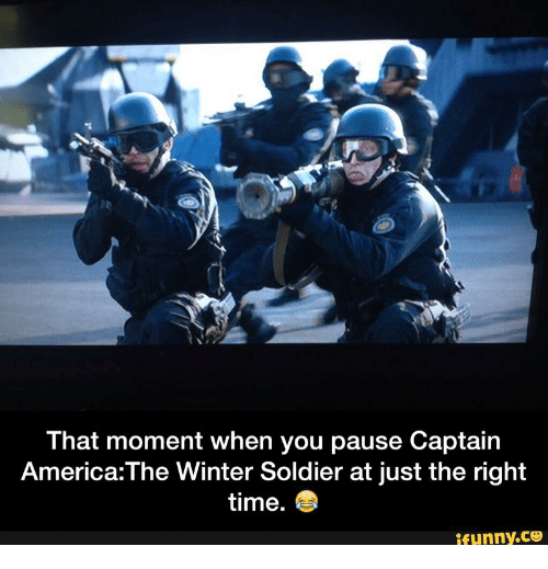 That Moment When You Pause Captain America The Winter