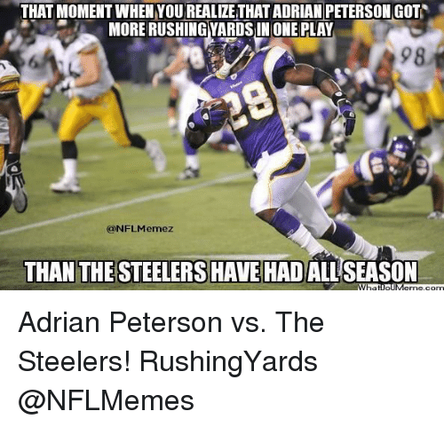 from Harold adrian peterson steeler gay