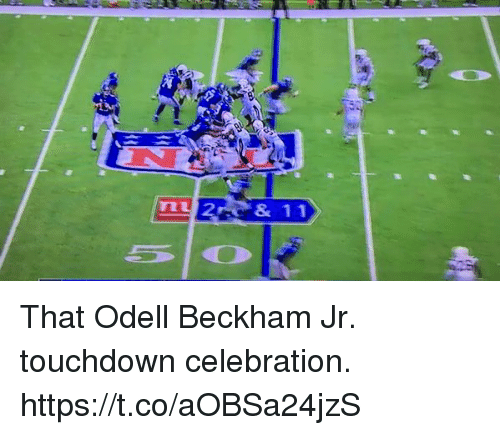 Football, Nfl, and Odell Beckham Jr.: That Odell Beckham Jr. touchdown celebration. https://t.co/aOBSa24jzS