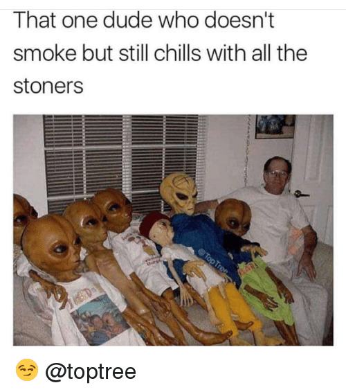 Stoners: That one dude who doesn't  smoke but still chills with all the  stoners 😏 @toptree