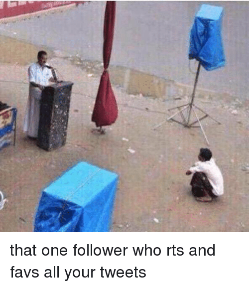 Girl Memes: that one follower who rts and favs all your tweets