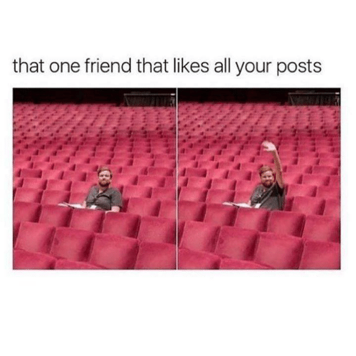 Funny, Tumblr, and One: that one friend that likes all your posts