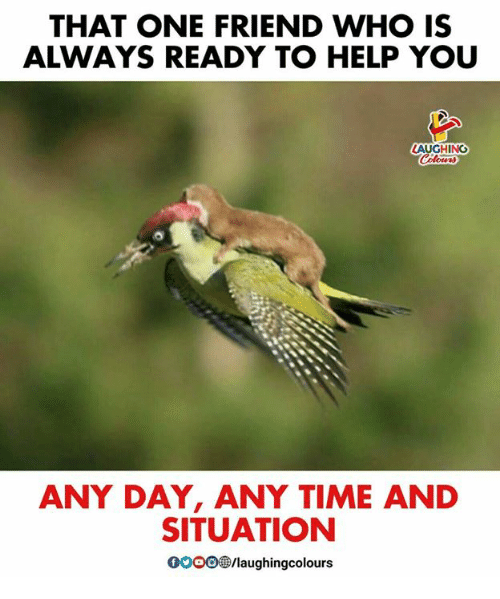 Gooo, Help, and Time: THAT ONE FRIEND WHO IS  ALWAYS READY TO HELP YOU  LAUGHING  ANY DAY, ANY TIME AND  SITUATION  GOOO/laughingcolours