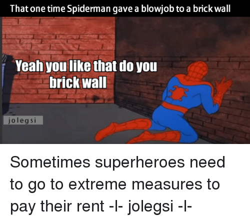 Spiderman blowjob