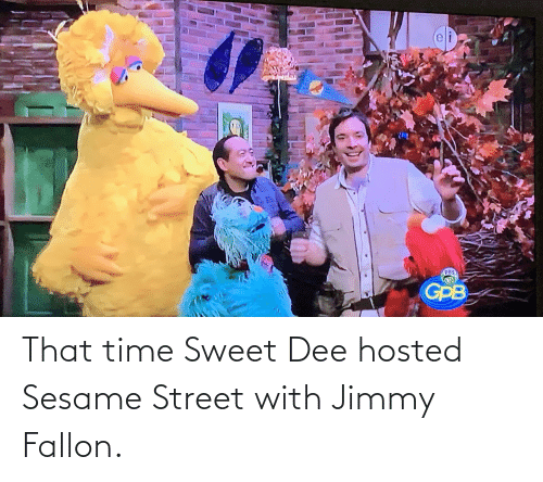 Jimmy Fallon: That time Sweet Dee hosted Sesame Street with Jimmy Fallon.