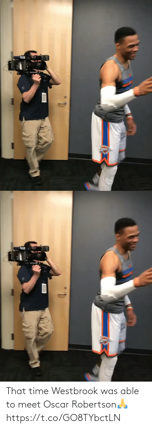Meet: That time Westbrook was able to meet Oscar Robertson🙏 https://t.co/GO8TYbctLN