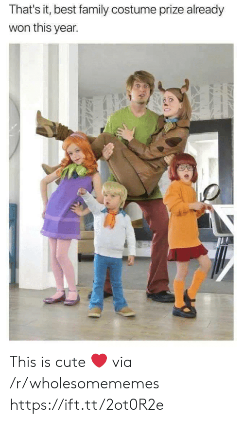 that's it: That's it, best family costume prize already  won this year. This is cute ❤ via /r/wholesomememes https://ift.tt/2ot0R2e