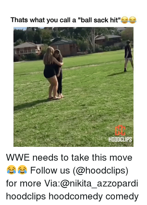 "Funny, World Wrestling Entertainment, and Comedy: Thats what you call a ""ball sack hit""  HOADCLIPSE WWE needs to take this move 😂😂 Follow us (@hoodclips) for more Via:@nikita_azzopardi hoodclips hoodcomedy comedy"