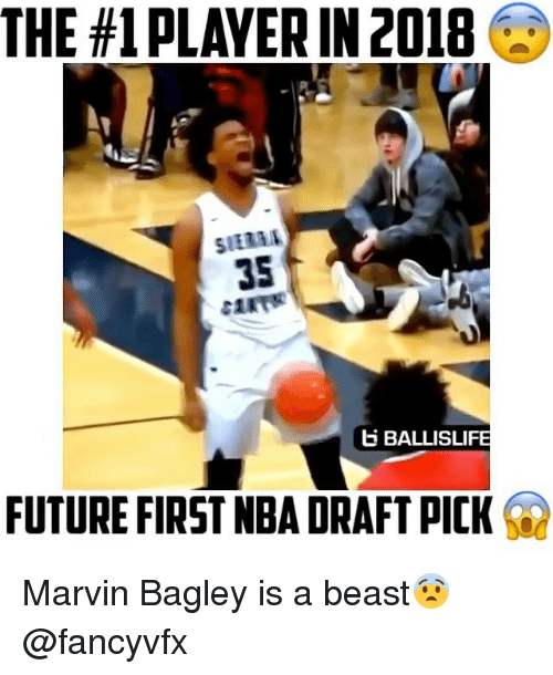 The #1 PLAYERIN 2018 35 B BALLISLI FUTURE FIRST NBA DRAFT