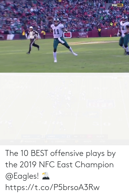 nfc east: The 10 BEST offensive plays by the 2019 NFC East Champion @Eagles! 🦅 https://t.co/P5brsoA3Rw