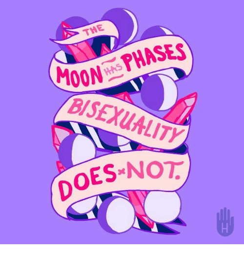 Bisexuality: THE  100 PHASES  BISEXUALITY  OES NOT