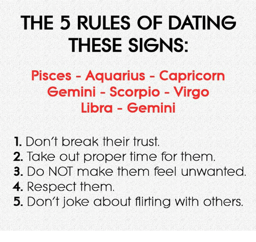 5 dating rules