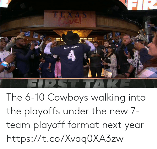 playoffs: The 6-10 Cowboys walking into the playoffs under the new 7-team playoff format next year https://t.co/Xvaq0XA3zw