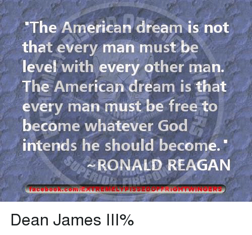 the american dream is not a