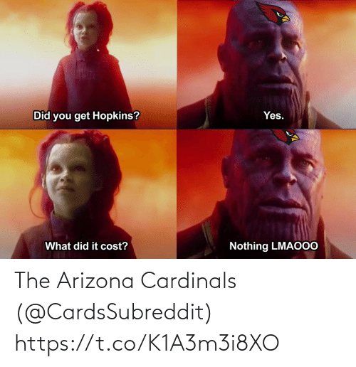 Arizona: The Arizona Cardinals (@CardsSubreddit) https://t.co/K1A3m3i8XO