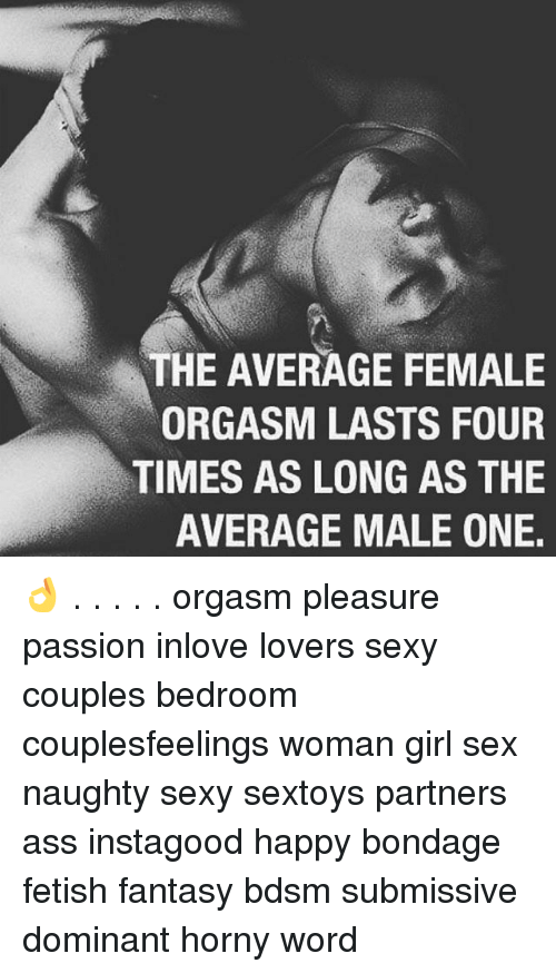 What average time for orgasm remarkable