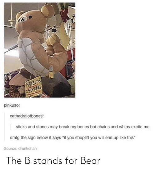 stands for: The B stands for Bear