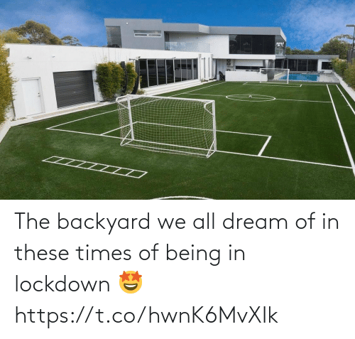 backyard: The backyard we all dream of in these times of being in lockdown 🤩 https://t.co/hwnK6MvXIk