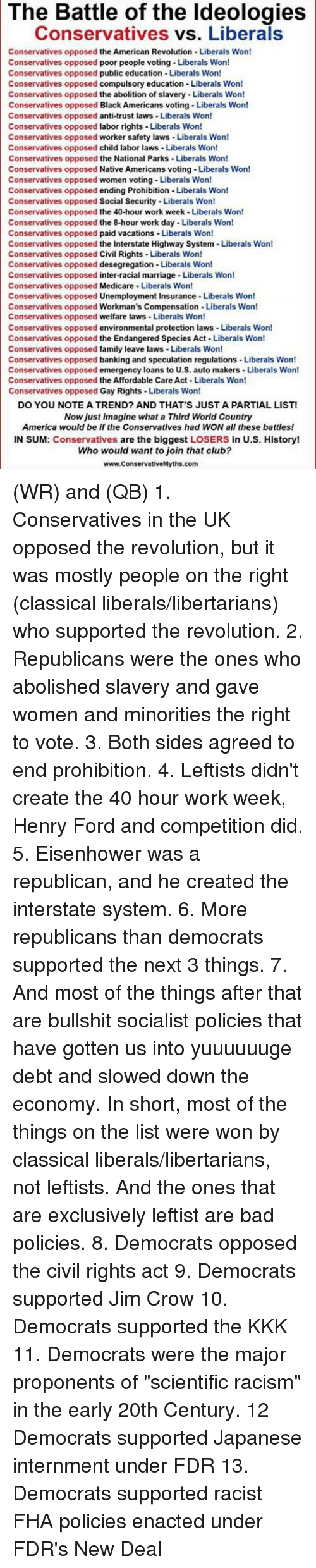 how successfully did the liberals handle Critical interpretations of the new deal even among some liberals it also united conservatives in both parties (at the time, the term conservative referred to the opponents of the new deal and did not imply any specific party affiliation).