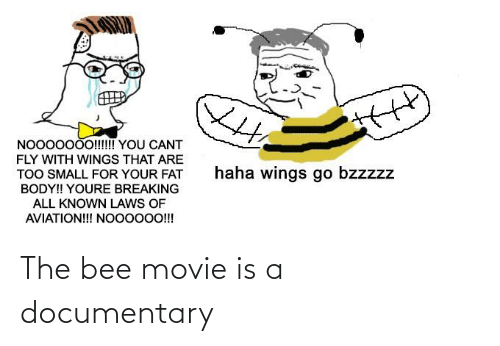 the bee movie: The bee movie is a documentary