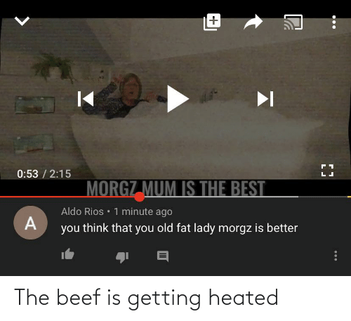 Beef: The beef is getting heated