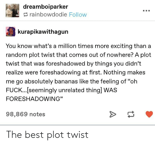 plot twist: The best plot twist