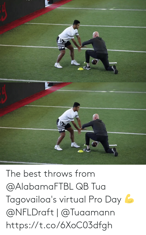 Pro: The best throws from @AlabamaFTBL QB Tua Tagovailoa's virtual Pro Day 💪  @NFLDraft | @Tuaamann https://t.co/6XoC03dfgh