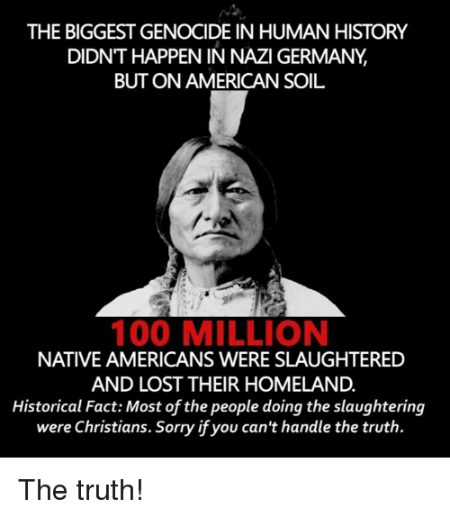 the start of genocide in american history Native american genocide it is impossible to determine exactly how many natives were present in the americas before the arrival of christopher columbus but even conservative estimates usually put the number at a minimum of one million.