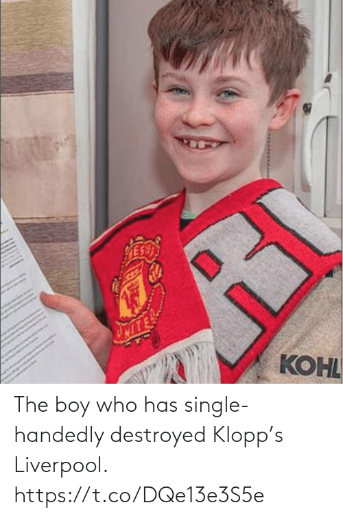 destroyed: The boy who has single-handedly destroyed Klopp's Liverpool. https://t.co/DQe13e3S5e