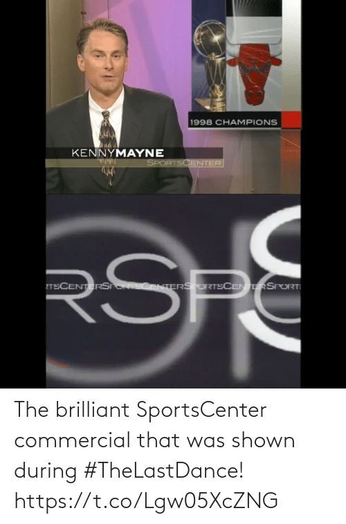 commercial: The brilliant SportsCenter commercial that was shown during #TheLastDance!  https://t.co/Lgw05XcZNG