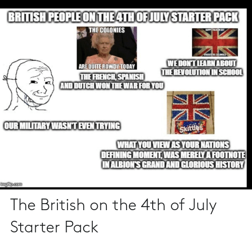 july: The British on the 4th of July Starter Pack